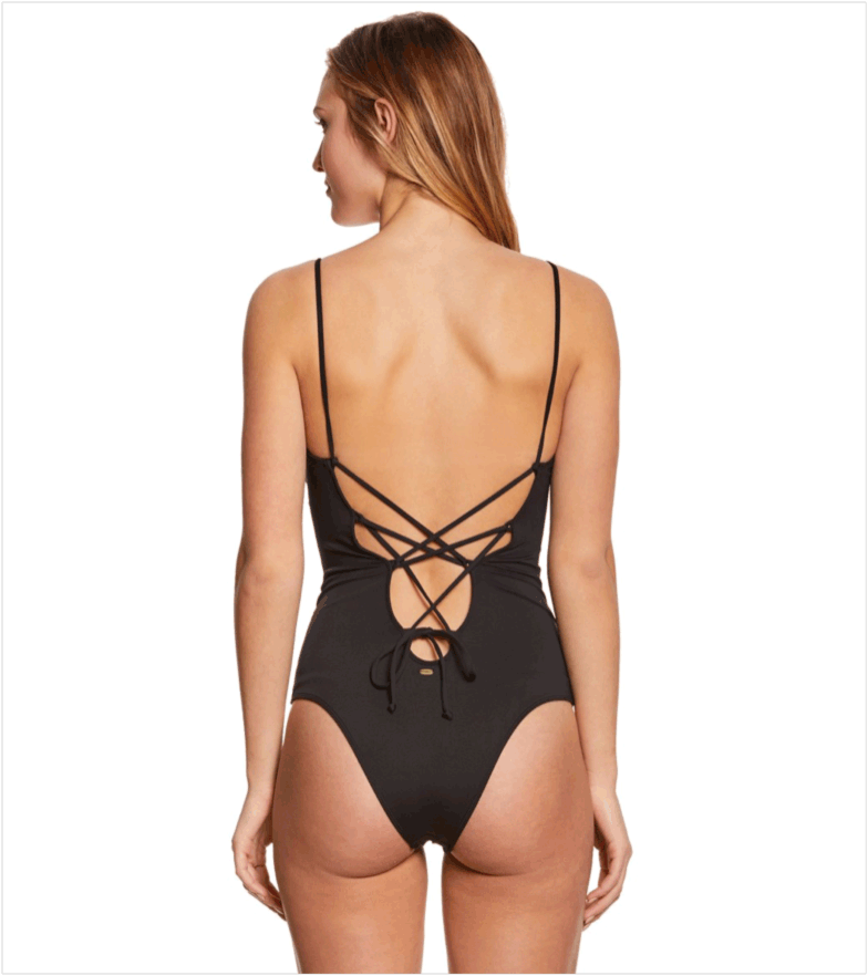 O'Neill Swimwear Salt Water Solids One Piece Swimsuit available at Swimsuits.com.